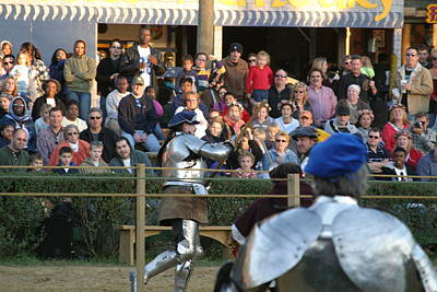 Maryland Renaissance Festival - Jousting And Sword Fighting - 121236 Poster