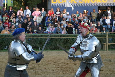 Maryland Renaissance Festival - Jousting And Sword Fighting - 121241 Poster by DC Photographer