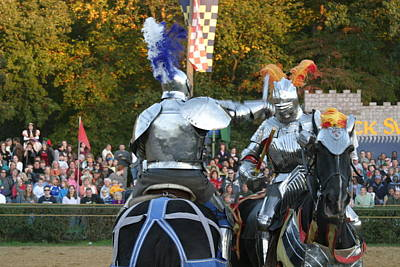 Maryland Renaissance Festival - Jousting And Sword Fighting - 121248 Poster
