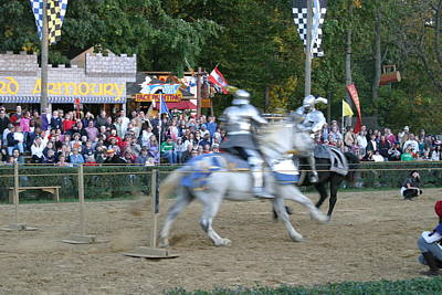 Maryland Renaissance Festival - Jousting And Sword Fighting - 121251 Poster by DC Photographer