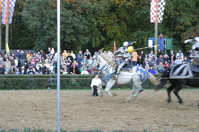 Maryland Renaissance Festival - Jousting And Sword Fighting - 121253 Poster