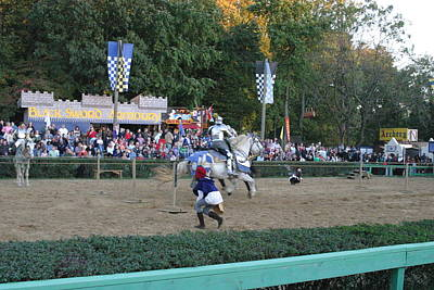 Maryland Renaissance Festival - Jousting And Sword Fighting - 121254 Poster
