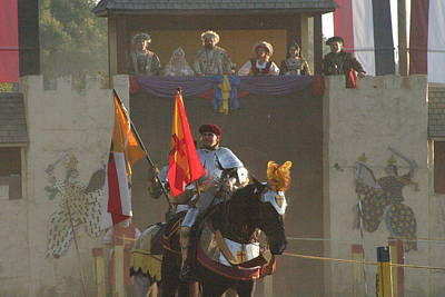 Maryland Renaissance Festival - Jousting And Sword Fighting - 121262 Poster