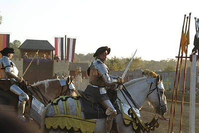 Maryland Renaissance Festival - Jousting And Sword Fighting - 121267 Poster