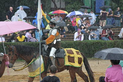 Maryland Renaissance Festival - Jousting And Sword Fighting - 121268 Poster