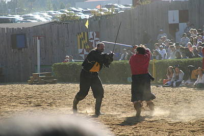 Maryland Renaissance Festival - Jousting And Sword Fighting - 121294 Poster