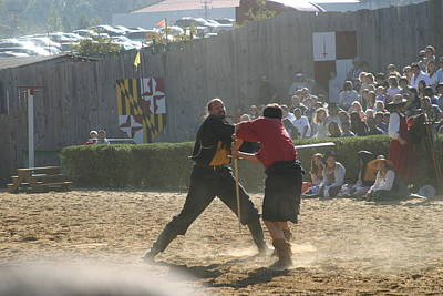 Maryland Renaissance Festival - Jousting And Sword Fighting - 121295 Poster