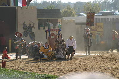 Maryland Renaissance Festival - Jousting And Sword Fighting - 121298 Poster