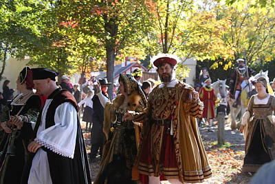Maryland Renaissance Festival - Kings Entrance - 12124 Poster by DC Photographer