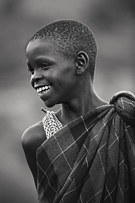 Poster featuring the photograph Masai #2 by Antonio Jorge Nunes