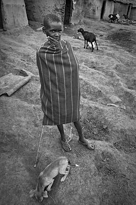 Poster featuring the photograph Masai #3 by Antonio Jorge Nunes