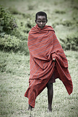 Poster featuring the photograph Masai #4 by Antonio Jorge Nunes