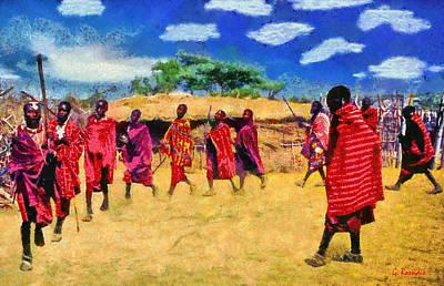 Masai Dance Poster