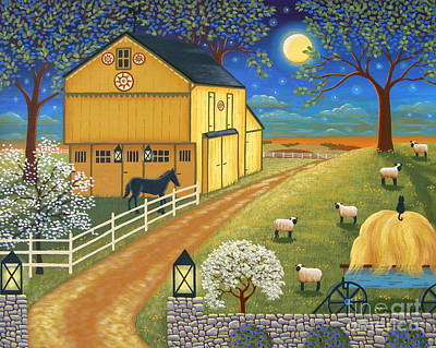 Mascot Mills Barn Poster by Mary Charles