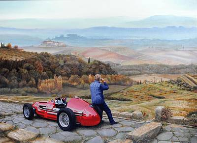 Maserati A6 Gcm, 2001 Oil On Canvas Poster by Trevor Neal
