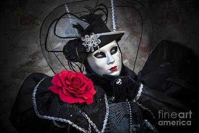 Mask Portrait Poster by Yuri Santin