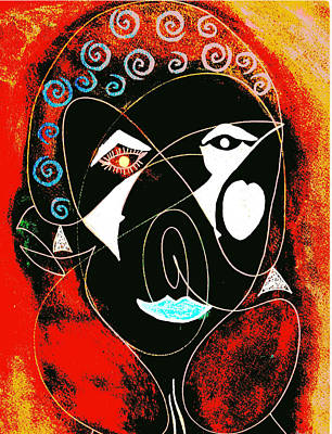 Masked Abstract Poster by Carolyn Repka
