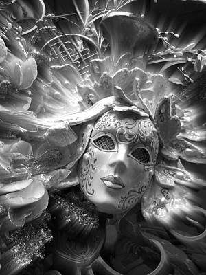Poster featuring the photograph Masked Angel by Amanda Eberly-Kudamik