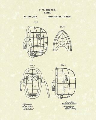 Masks 1878 Patent Art Poster