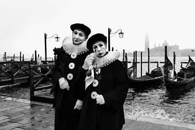 Masks In Venice Poster by Yuri Santin