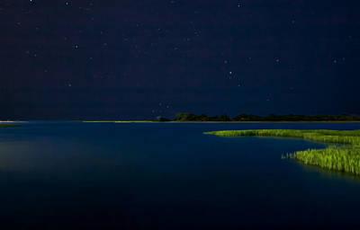 Masonboro Sound At Night Poster by Phil Mancuso