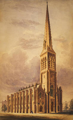 Masonry Church Circa 1850 Poster