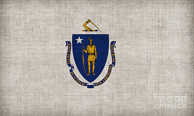 Massachusetts State Flag Poster by Pixel Chimp