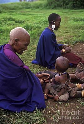 Massai Women And Child - Tanzania Poster by Craig Lovell