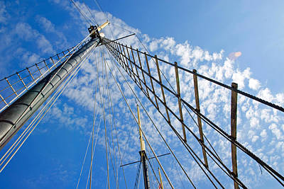 Masted Sky Poster by Keith Armstrong