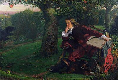 Isaac Newton Poster by Robert Hannah