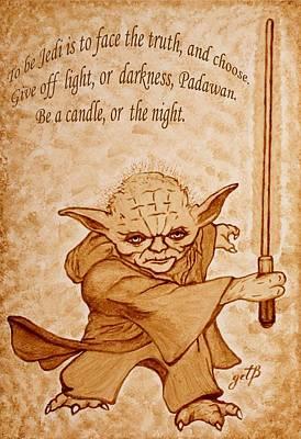 Master Yoda Wisdom Poster by Georgeta  Blanaru