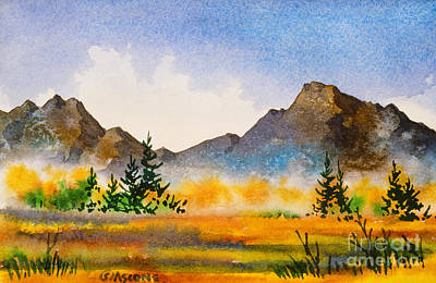 Poster featuring the painting Matanuska Autumn by Teresa Ascone