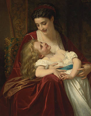 Maternal Affection Poster by Hugues Merle