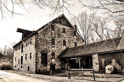 Mather Mill At Fort Washington Pa Poster by Bill Cannon