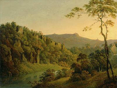 Matlock Dale, Looking Toward Black Rock Escarpment Poster by Litz Collection
