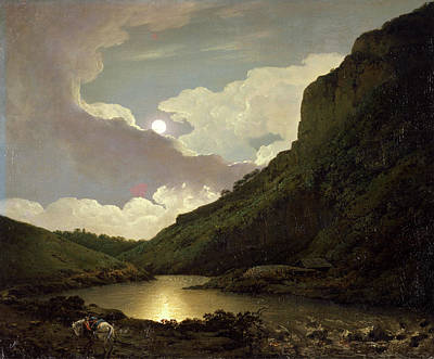 Matlock Tor By Moonlight, Joseph Wright Of Derby Poster by Litz Collection