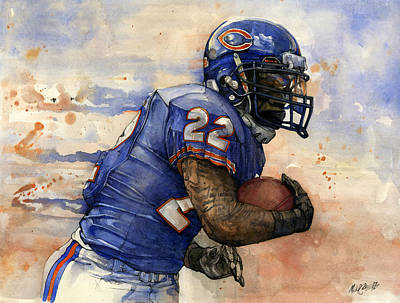 Matt Forte Poster by Michael  Pattison