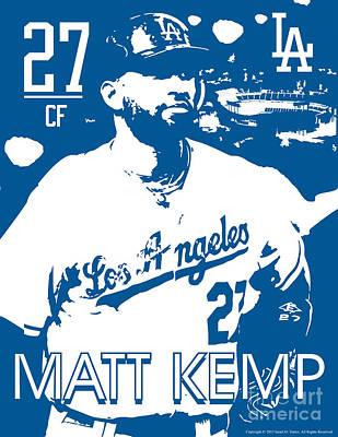 Matt Kemp Poster by Israel Torres