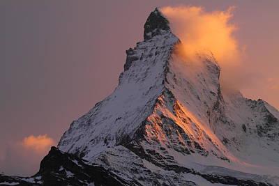 Matterhorn At Sunset Poster by Jetson Nguyen