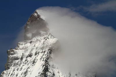Matterhorn Peak Shrouded In Clouds Poster by Jetson Nguyen
