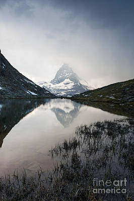 Matterhorn Reflected In Riffelsee Lake At Sunset Poster
