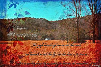 Matthew 15 7 9 Poster