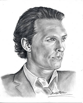 Matthew Mcconaughey Poster by Barb Baker