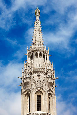 Matthias Church Bell Tower In Budapest Poster by Artur Bogacki