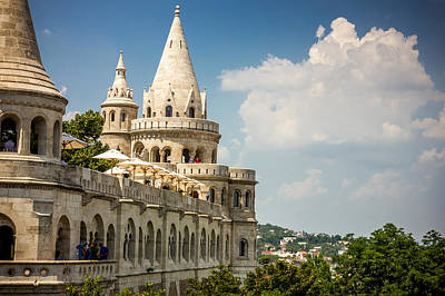 Fisherman's Bastion Side View Poster by Pati Photography