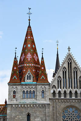 Matyas Church With Glazed Tiles In Budapest Hungary Poster