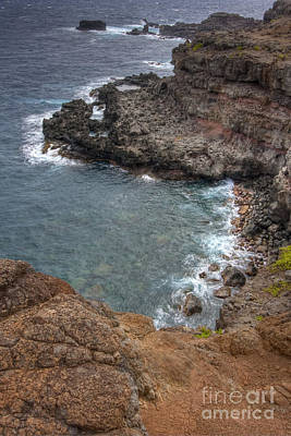 Poster featuring the photograph Maui Cliff by Bryan Keil