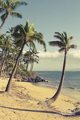 Maui Lu Beach Hawaii Poster by Sharon Mau