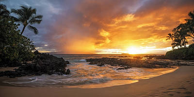 Maui Sunset Poster by Hawaii  Fine Art Photography