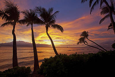 Maui Sunset Poster by James Roemmling